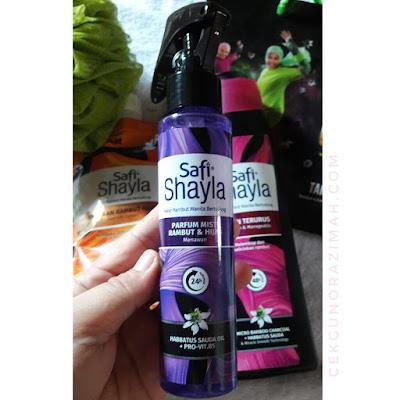 safi shayla, pakar rambut wanita bertudung, syampu untuk wanita bertudung, rangkaian penjagaan rambut safi shayla