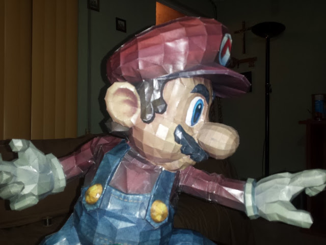 super smash bros braw mario bros paper craft