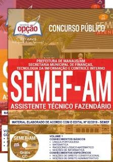 Download Apostila Concurso SEMEF AM 2019 PDF