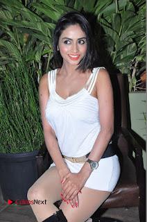 Actress Model Pooja Sri Stills in White Short Dress at F Club pre soft Launch  0133.JPG