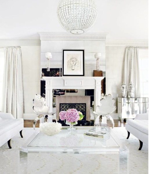 Glam Living Room: Shades Of White~ Inspirations