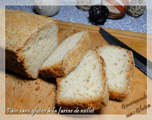Pain sans gluten à la farine de millet, sur poolish