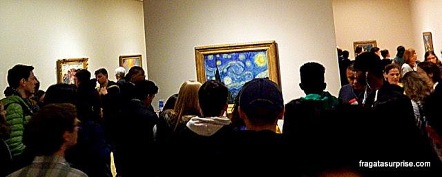 """Starry Night"" (Noite Estrelada) de Vincent Van Gogh, no MoMA de Nova York"