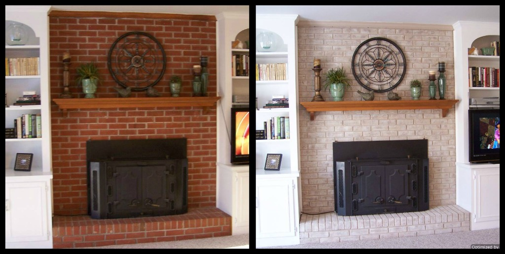 Consider Lightening Up The Room And Painting Brick Or Replacing It With A More Cohesive Material