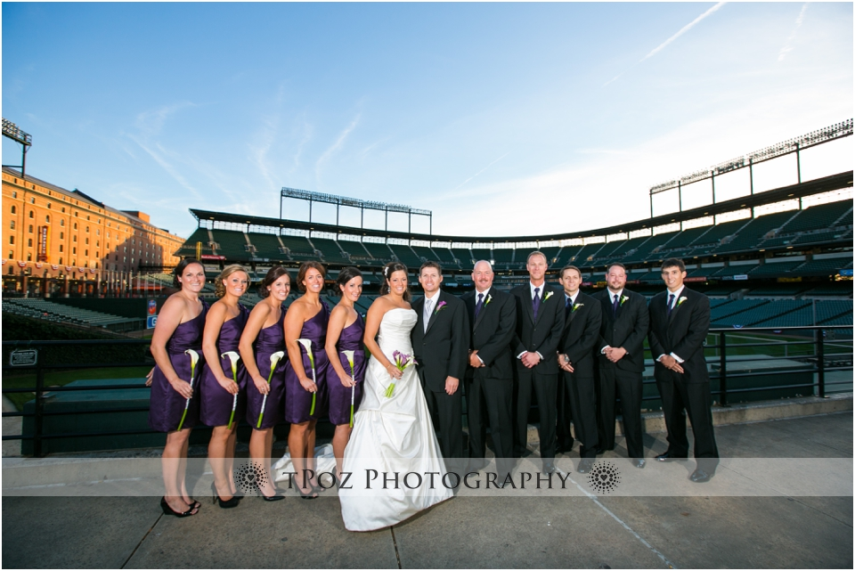 Camden Yards Wedding Portrait Baltimore