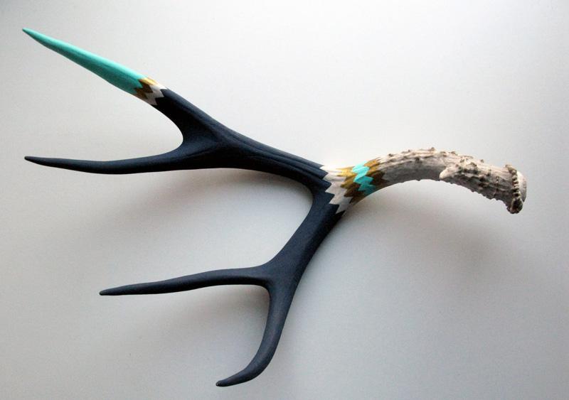 Lisa Mende Design Diy Painted Deer Antler Sheds