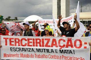 Lei da Terceirização mostra compromisso do governo com retirada de direitos