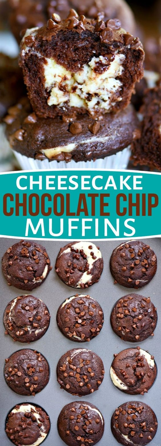 Cheesecake Chocolate Chíp Muffíns