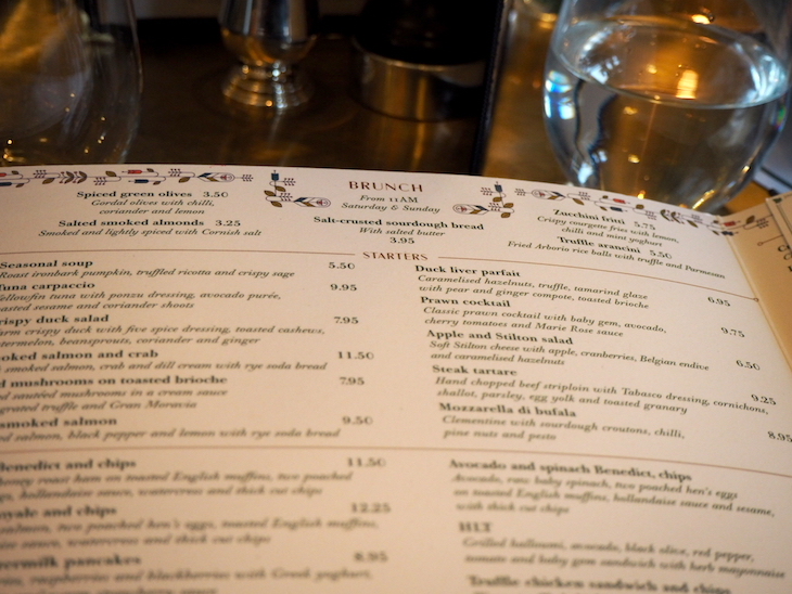 The Ivy Montpellier Brasserie Brunch Menu