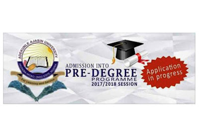 AAUA Pre-Degree Programme Admission Form