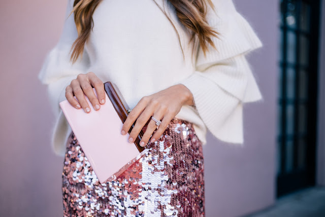 Pink Sequin Skirt