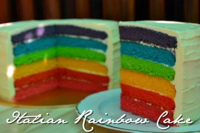 Rainbow Cake Recipe Italian: Delightful Chocs: Italian Rainbow Cake :D