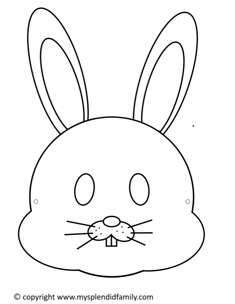 It's just a photo of Selective Bunny Face Printable