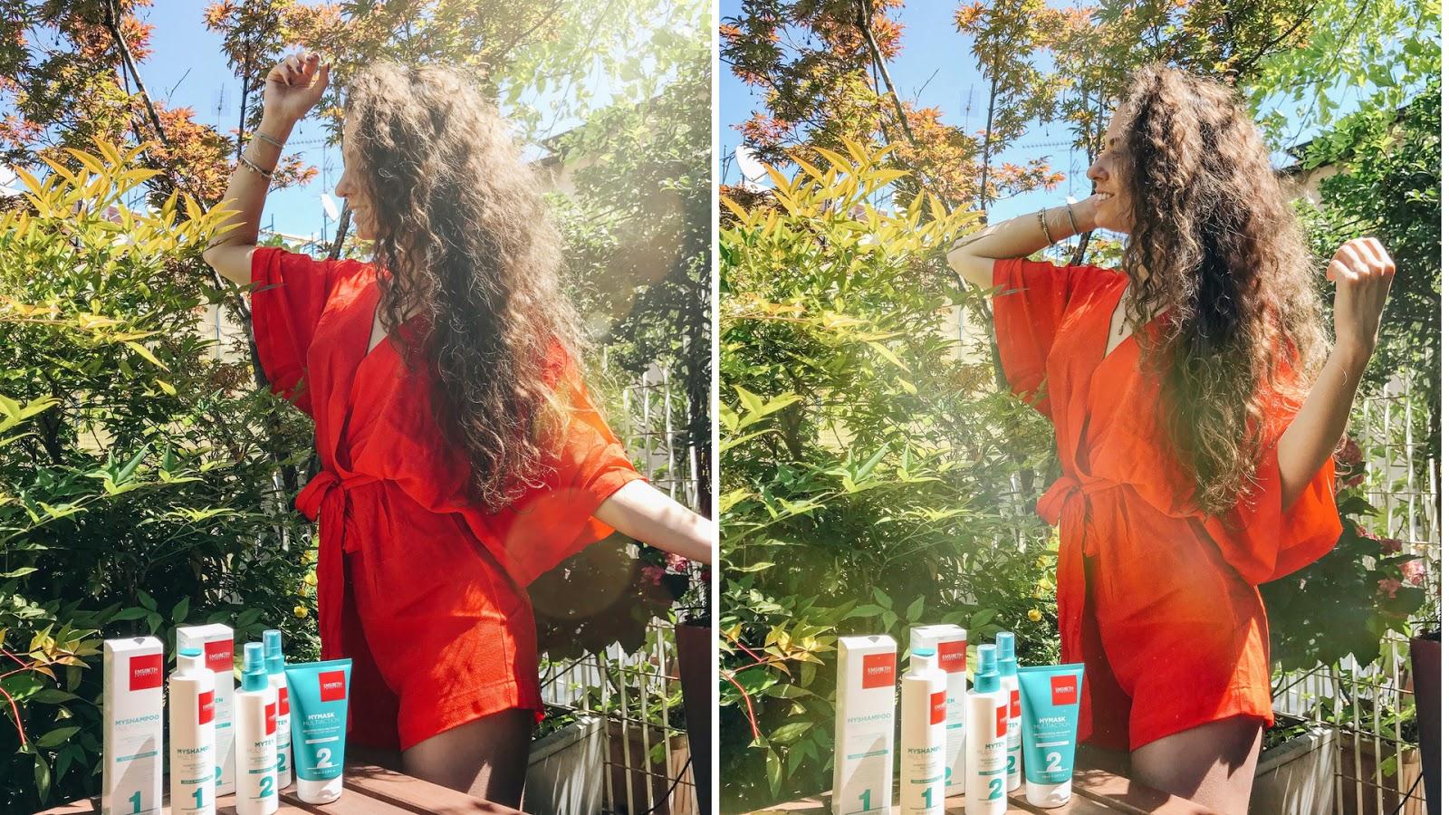 capelli mordbidi, setosi e lucenti shampoo e maschere mymultiaction di emisbeth, cura capelli, haircare, come avere capelli top, Valentina rago, fashion need