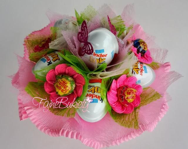 Bukiet z jajek niespodzianek