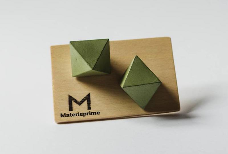 coppia di pomelli in cemento naturale - Materieprime