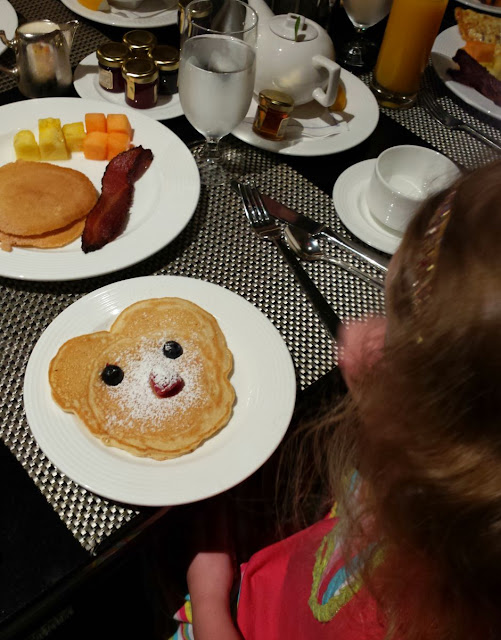 Breakfast at the Ritz-Carlton Pentagon City. Great family hotel property.