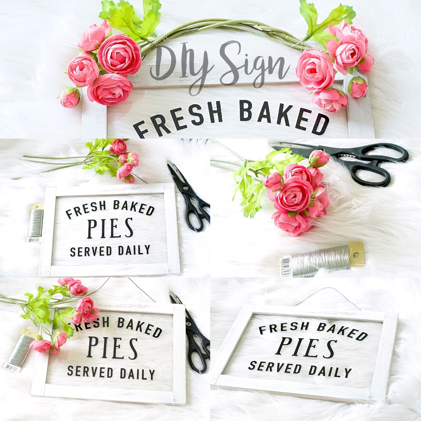 Fresh Baked Pies Served Daily Sign | PRETTY TWINKLE PARTY