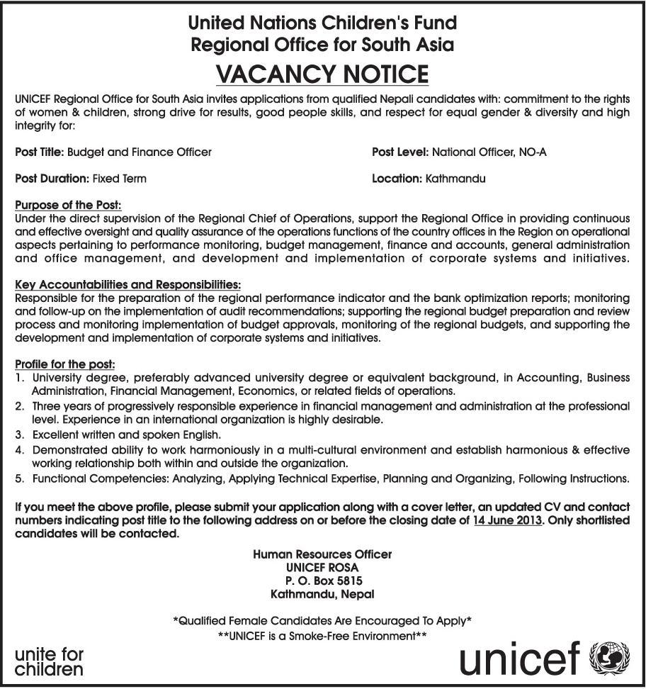 Unicef Cover Letter June 2021