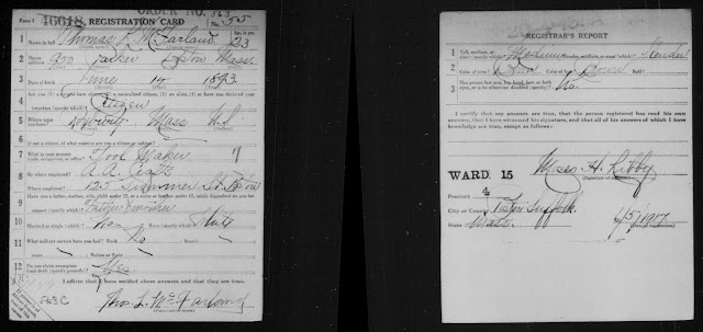 WORLD WAR 1 DRAFT REGISTRATION CARDS OF MY FAMILY MEMBERS