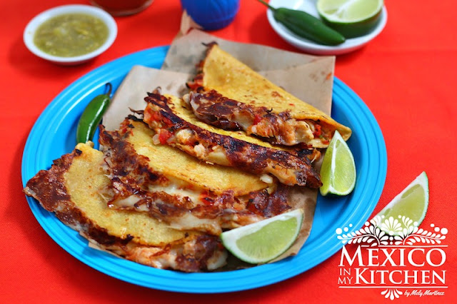 Tripe Quesadillas, mouthwatering quesadillas using beef tripe.