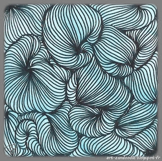 zendoodle circonvolution zentangle pattern