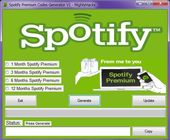 Now you can unlock free premium Spotify features without any code or any survey. Even you can generate free Spotify premium account list free using a code generator. If you don't know how to use hack tool to generating free code then don't worry, I am writing some instruction below in the post.