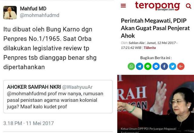 Megawati akan Gugat Pasal Penistaan Agama yang Padahal Dibuat oleh Bapaknya Sendiri