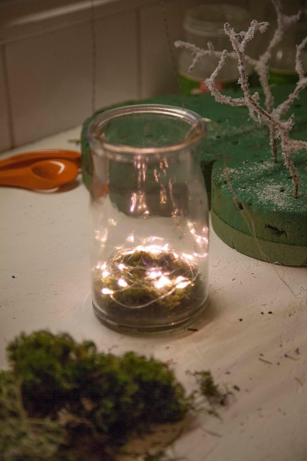 """Rose garden malevik: gör en mini vinter ~ i made some """"winter craft"""""""