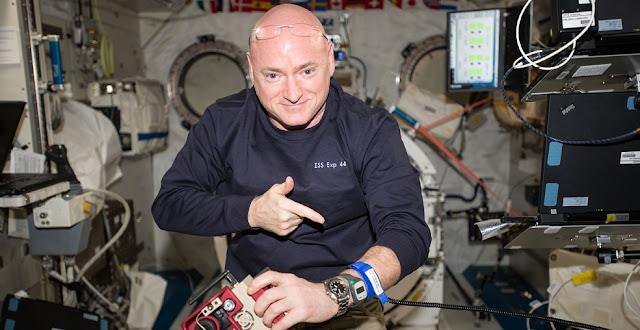 Scott Kelly during his year in space on ISS. Credit: NASA