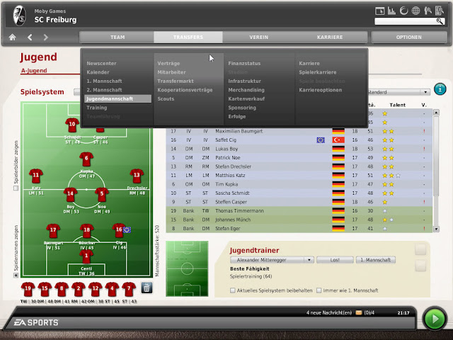 تحميل لعبة تدريب كرة القدم للكمبيوتر والموبايل الاندرويد برابط مباشر مضغوطة مجانا download fifa manager 10