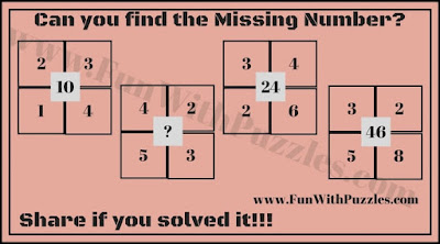 Maths Puzzle for Kids to find the missing number