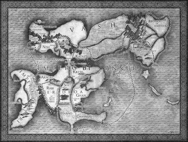 cartina libro Le spade dell'imperatore