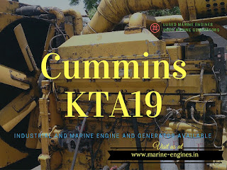 Cummins KTA19, KTA 19, marine, Industrial, 500 HP, 50 Hz, used, second hand, ship, running,