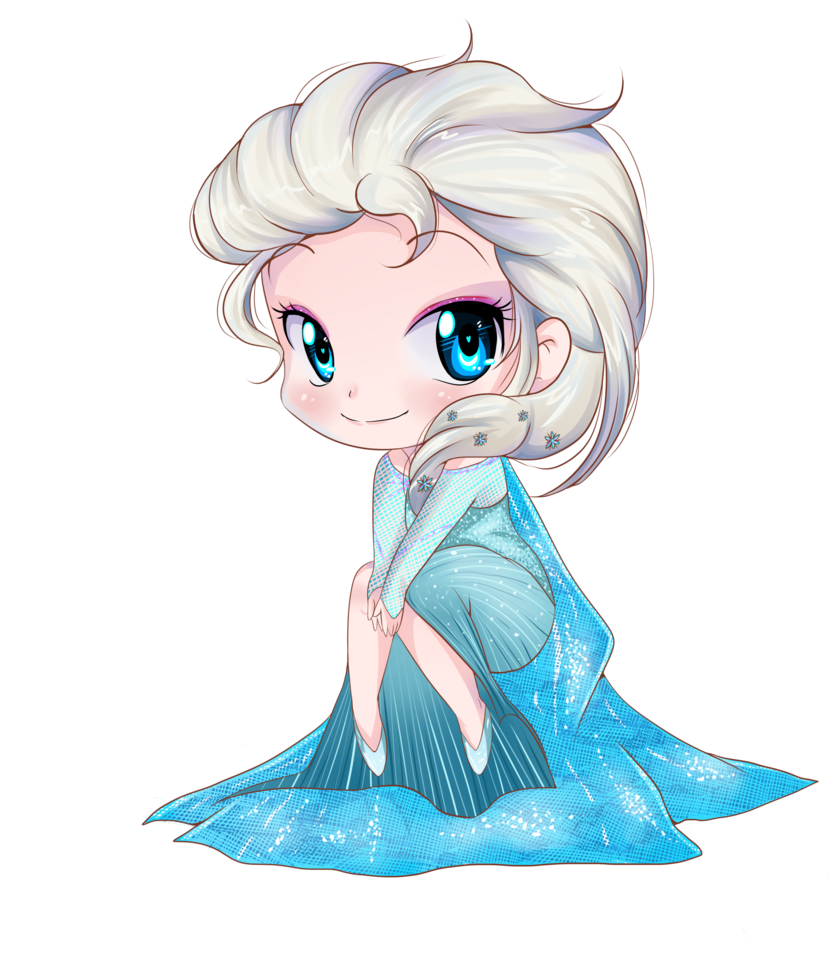 princess Elsa chibi công chúa nữ hoàng băng giá 7