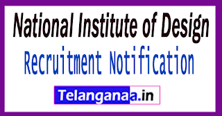 NID National Institute of Design Recruitment Notification 2017