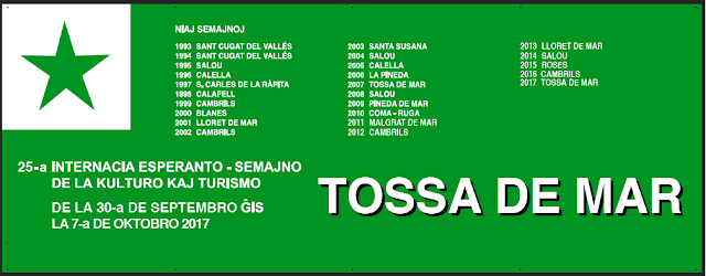 25ème Semaine internationale de la culture et du tourisme, Tossa de Mar (Espagne), 30 septembre - 07 octobre 2017