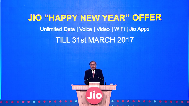 "Reliance Jio 4G: ""Happy New Year Offer"" announced - Complete Details"