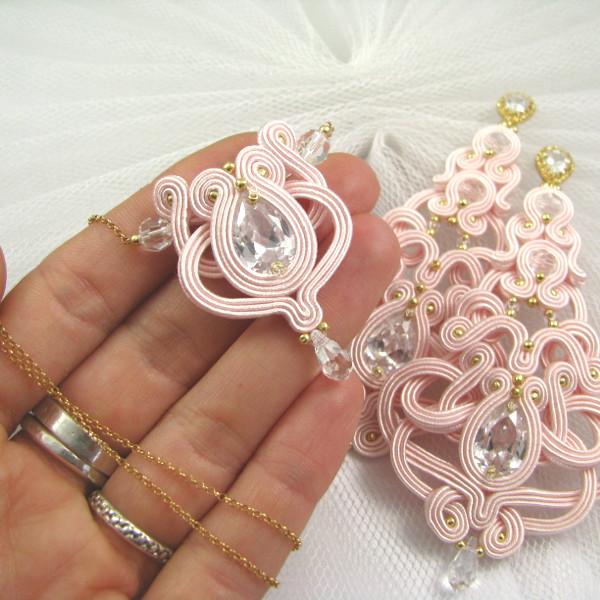 Wisiorek ślubny - różowo złoty