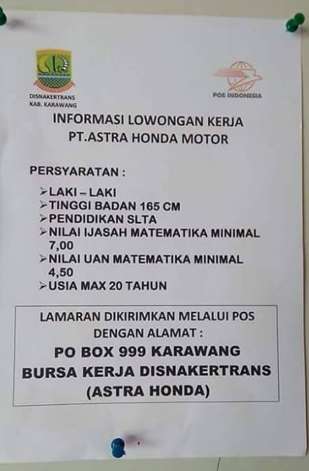 Lowongan Kerja PT Astra Honda Motor Mei 2016 - Lupy Hakim