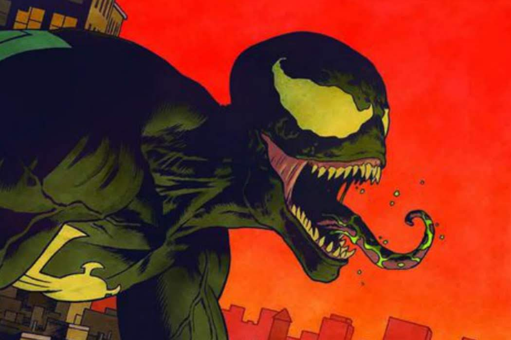 Venom First Host : トム・ハーディ主演の映画が大ヒットのアンチ・ヒーロー、ヴェノムを描いたアート・プリント !!