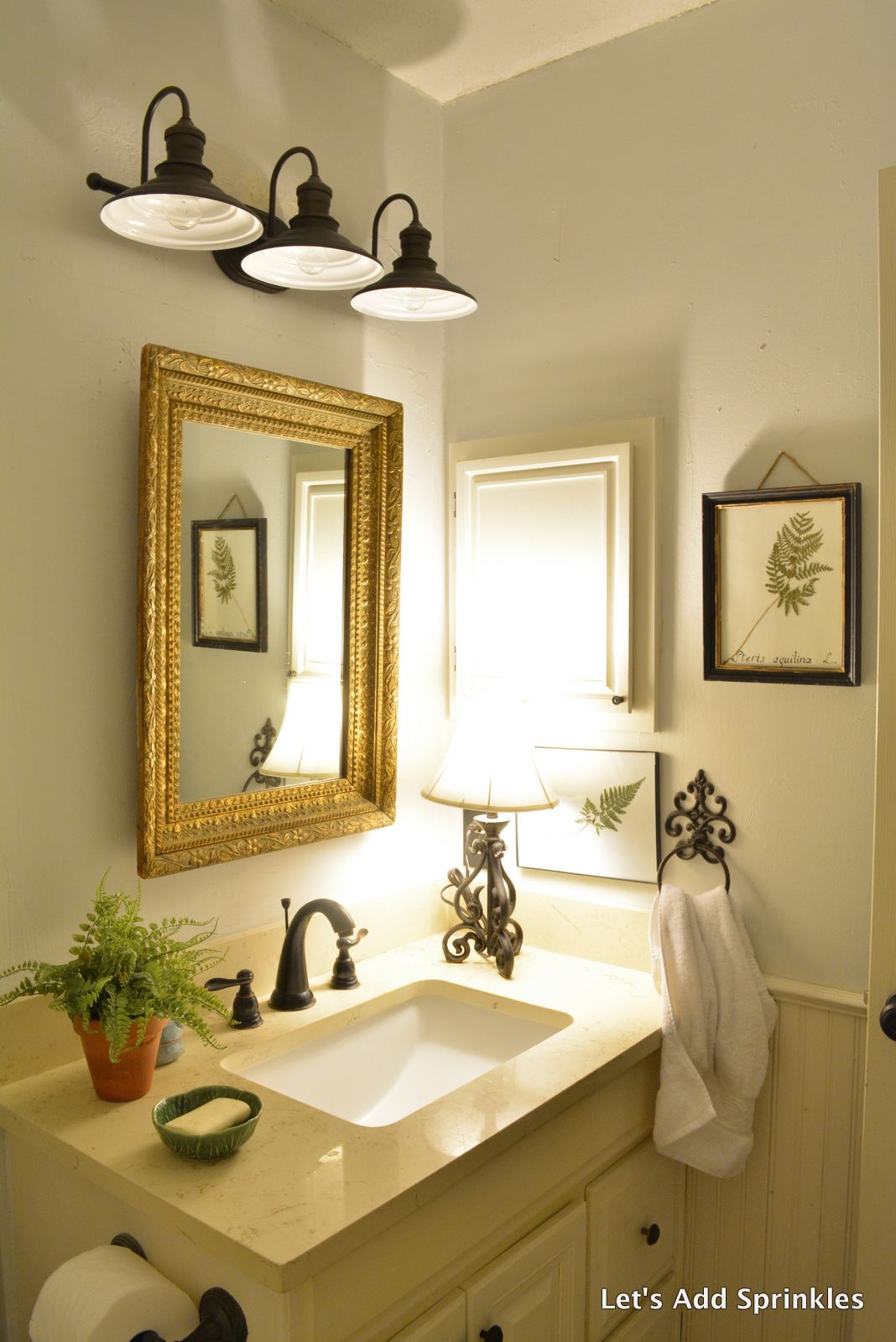 Let 39 S Add Sprinkles Farmhouse Light For The Bathroom