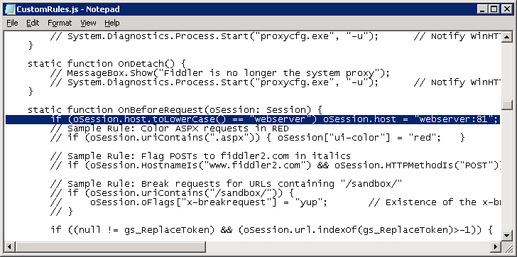 Capturing IIS 7 5 Web site traffic with Fiddler reverse
