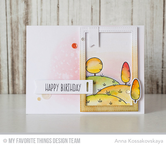 Birthday Pasture Card by Anna Kossakovskaya featuring the Birdie Brown Ewe Are the Best stamp set and Die-namics and the Tag Builder Blueprints 5 and Inside & Out Stitched Rectangle STAX Die-namics #mftstamps
