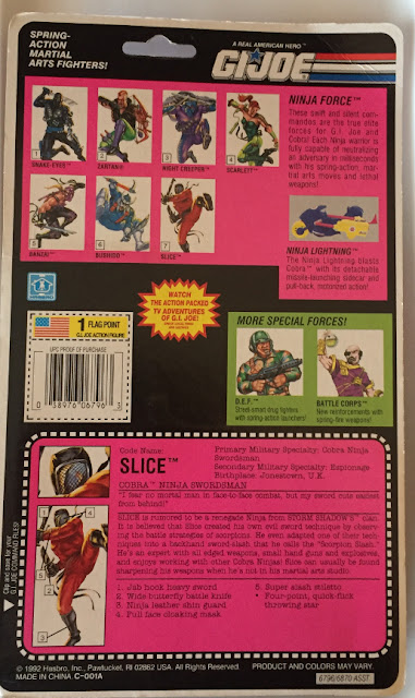 1993 Ninja Force Slice, Carded, MOC, Cardback, Filecard