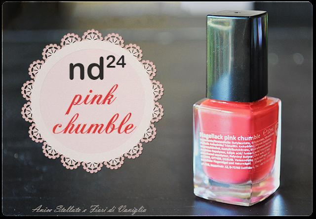 collaborazione nd24 pink chumble