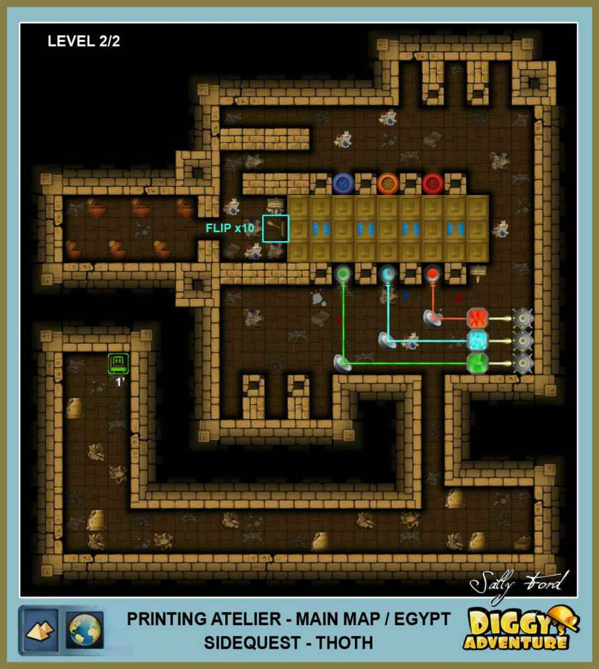 Diggy's Adventure Walkthrough: Egypt Main / Photo Atelier Level 2 Map 1