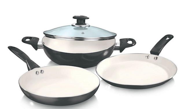 Vinod Cookware announces '3pcs Combo' to its outstanding Zest Superb+ Ceramiccookware range for Rs. 2690/-