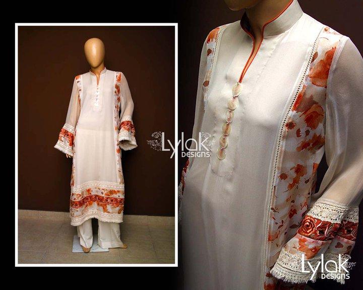 faff6455ce Fashion Tips Box  Embroidered Eid Wear 2011 By Lylak Designs