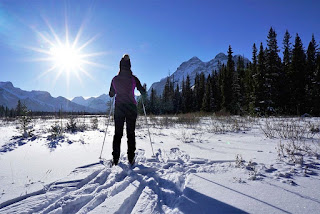 Cross country skiing in Kananaskis